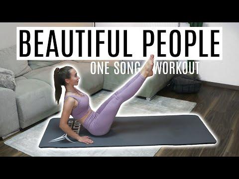 ONE SONG SIXPACK WORKOUT | Ed Sheeran (feat. Khalid) - Beautiful People