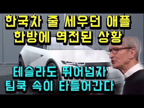 현대차 줄 세우던 애플 한방에 역전된 상황