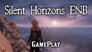 Silent Horizons ENB Gameplay plus ESO Altmer Armor with PHYSICS Skyrim SE