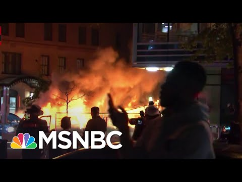 Car Burns In Washington D.C. Amid George Floyd Protesting | MSNBC