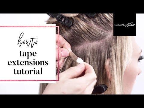 TAPE IN EXTENSIONS - Selber Anbringen & Reinmachen (Anleitung für kurze Haare) | Elegance-Hair