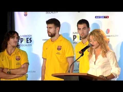 Watch videoFC Barcelona: Discurso de Shakira