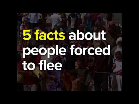 5 facts about people forced to flee (UNHCR Global trends 2016)