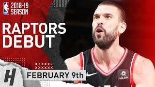 Marc Gasol Full RAPTORS DEBUT Highlights Vs Knicks 2019.02.09 - 7 Pts, 6 Reb In 19 Min