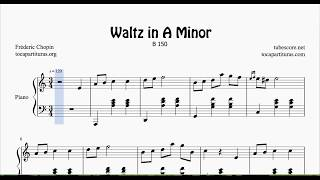 chopin waltz in a minor piano sheet music - TH-Clip