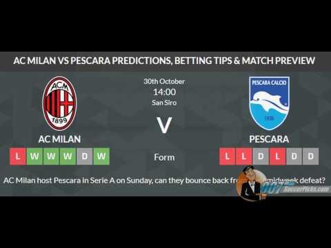 AC Milan vs Pescara PREDICTION (by 007Soccerpicks.com)