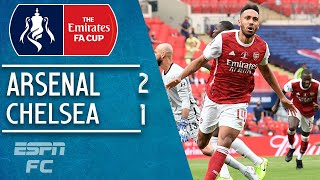 Arsenal claim their record 14th FA Cup crown with a come-from-behind 2-1 win over Frank Lampard's Chelsea, courtesy of Pierre-Emerick Aubameyang's strikes in either half. Christian Pulisic got Chelsea off to an early start with a goal within five minutes, but it was Aubameyang's penalty midway through the first-half that brought Mikel Arteta's side level. Pulisic was forced off with an apparent hamstring injury early in the second-half, before Aubameyang's eventual game-winner.  #ESPNFC #FACup #Chelsea #Pulisic #Arsenal #FACupHighlights 