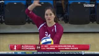 Stanford at UCLA - NCAA Women's Volleyball (Oct 21st 2016)
