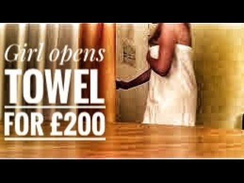 Girl removes her towel for € 200 dollar  so funny must watch