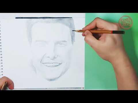 Том Круз. Рисунок карандашом.