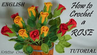 How To Crochet A Rose / TUTORIAL / English
