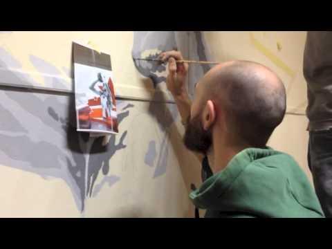 I 2WALL dipingono il Palazzetto