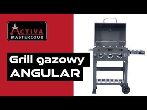 ACTIVA Polska Grill gazowy ANGULAR GAZ 3.0 (10,5 kW) | Ruszt żeliwny Grid in Grid