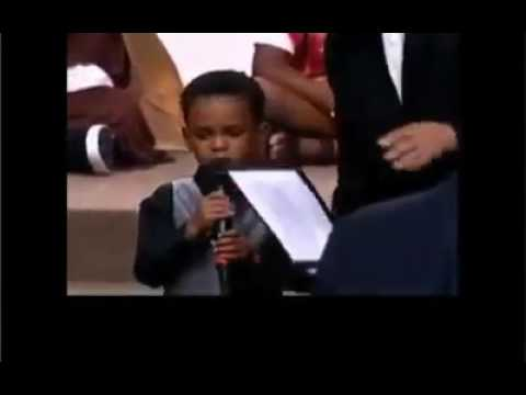 Young Boy Prays For The Church