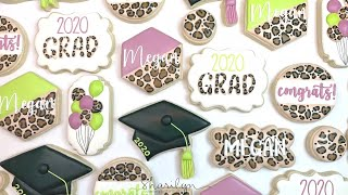 How To Make Animal Print Graduation Sugar Cookies!