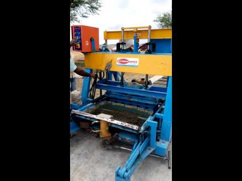Vibro Forming Paver Tiles Making Machine