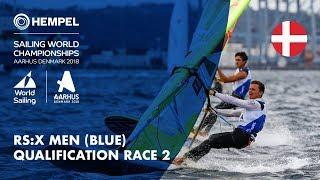 Full RS:X Men Blue Fleet Qualification Race 2 | Aarhus 2018