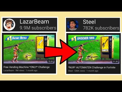 This YouTuber STEALS LazarBeam's Thumbnails    - JT,rukbol com