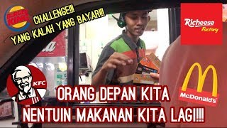 Video DRIVE THRU! Letting person infront of me decide what I eat and PAY THE BILL!!! (indonesia) part 1 MP3, 3GP, MP4, WEBM, AVI, FLV Agustus 2019