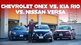 Chevrolet Onix vs. KIA Rio vs. Nissan Versa, comparativa: Tres superventas con argumentos para todo