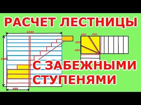 Расчет лестницы с забежными ступенями.Расчет лестницы по размерам подписчика.