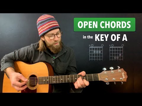 Faking open chords in the key of A