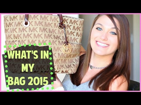 What's In My Bag 2015! | Ft. Michael Kors Jessica Simpson.