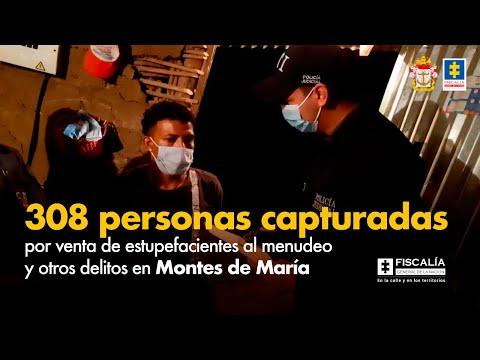 Fiscal Francisco Barbosa: 308 capturados por venta de estupefacientes en Montes de María