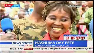 Kajiado North resident Lucy Njoki Kimani expresses her love for Jubilee