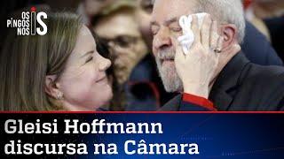 Gleisi celebra os 75 anos do ex-presidiário Lula