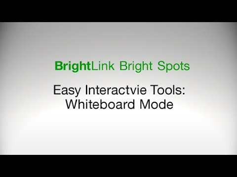 How To Use the Easy Interactive Tools in Whiteboard Mode