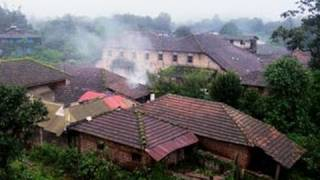 Mist covered Agumbe village
