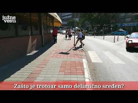 Neuređen trotoar tek renoviranog niškog Trga [video]