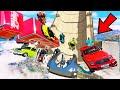 GTA 5: AVENGERS ARMY vs SUPER MEGA RAMP JUMP CHALLENGE! #4