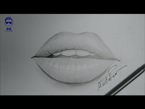 تعلم رسم الشفاه الفم مع الخطوت للمبتدئين