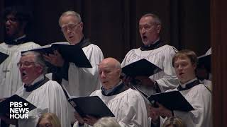 WATCH: St. Martin's parish choir sing 'Battle Hymn of the Republic' at George H.W. Bush's funeral