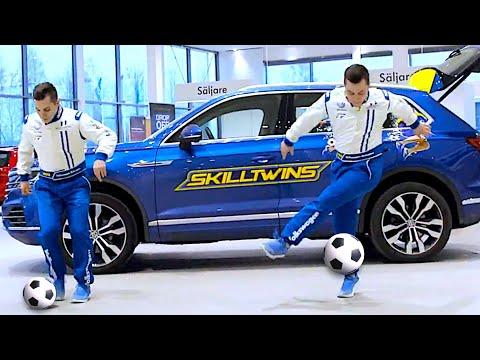 """Crazy TRICKSHOTS ft. SkillTwins """"SKILLCAR"""" 😱"""