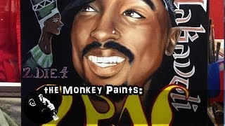 How-to-Paint Tupac Shakur tutorial. A painting tribute to the greatest rapper ever