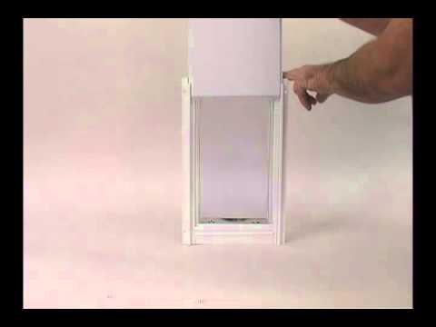 Ideal Pet Deluxe Aluminium Pet Door White - Extra Large Video