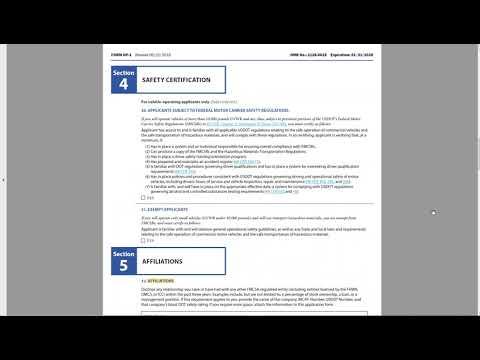 Form OP 1 Video - Freight Broker Application (Trucking Company ...