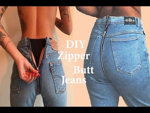 DIY Vetements x Levis Zipper Butt Jeans