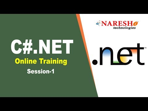 C#.Net Online Training Demo Session 1 - YouTube