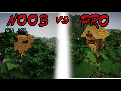 Minecraft NOOB VS PRO - TREE HOUSE