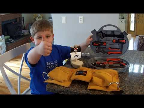 Active Kyds 9 Piece Tool Set and Tool Belt for Kids Review