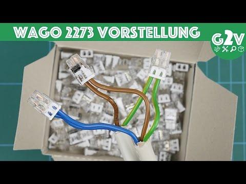 WAGO 2273 Klemme richtig benutzen // anschließen // Lösen // verbinden // DEUTSCH