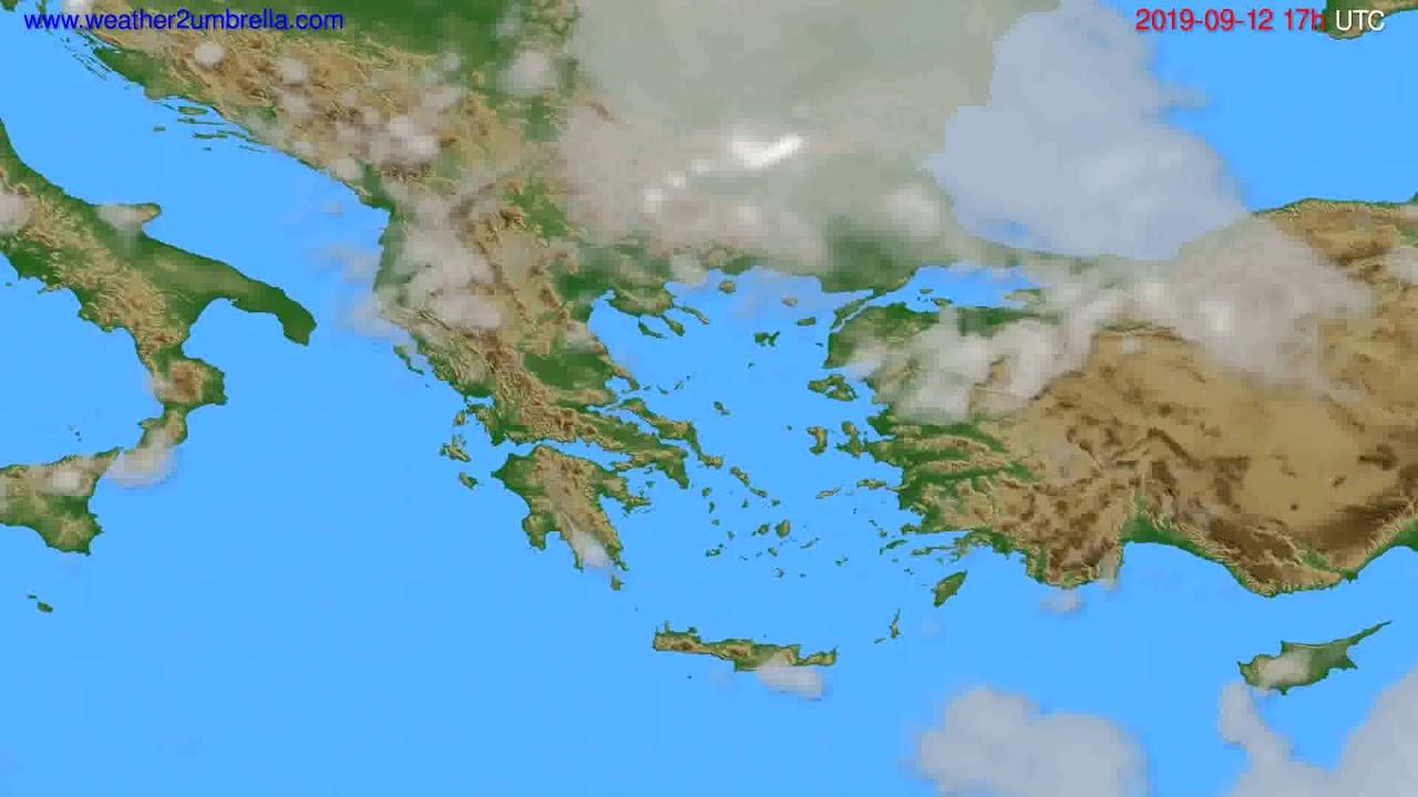 Cloud forecast Greece // modelrun: 00h UTC 2019-09-11