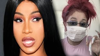Cardi B Reacts To Coronavirus Face Tattoo Inspired By Her Viral Video