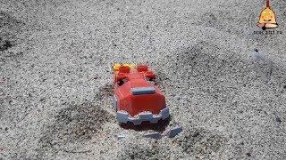 Dinazor Makineler MegaBlok TyRex Kumsalda Kuma Gömüldü-Dinotrux Mega Bloks TyRux Buried in the Beach