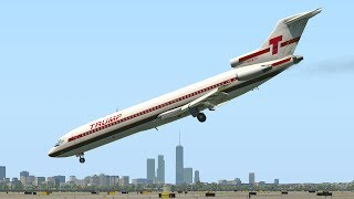 Boeing 727  Emergency Landing Nose Dive | X-Plane 11