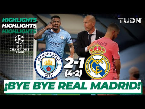 Highlights | Man City 2-1 Real Madrid | Champions League 2020 – Octavos de final | TUDN